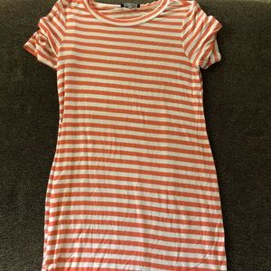 Dresses & Skirts - orange and white striped dress